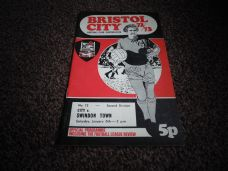 Bristol City v Swindon Town, 1972/73